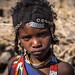 Issa tribe child girl with traditional hairstyle, Afar region, Yangudi Rassa National Park, Ethiopia