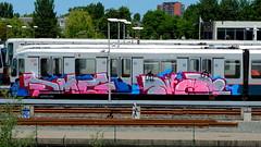 Graffiti (oerendhard1) Tags: urban streetart art train graffiti rotterdam metro painted vandalism