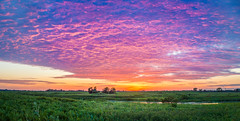 Springbrook Sunset Panorama (Mike M Martin) Tags: sunset sky panorama color clouds canon dusk prairie naperville springbrook canont2i