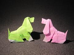 Dog, design: Barth Dunkan (Origami Sophy) Tags: dog origami paperfolding barthdunkan