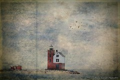 Round Island Lighthouse (Passion4Nature) Tags: lighthouse texture ferry island michigan upnorth lakehuron mackinawisland roundislandlighthouse artmix magicuniverse magicunicornverybest textureinfinitebook