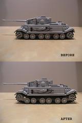 Lego Porsche Tiger VK4501(P) Suspension Height Modification (Shockblast1) Tags: tank lego tiger wwii prototype porsche ww2 worldwar2 panzer legotank custombricks vk4501