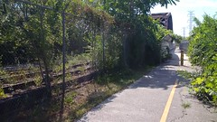 Rails to Trails #2 (artistmac) Tags: railroad bridge chicago bicycle illinois crossing mountainbike tracks il trail schwinn biketrail majortaylor calumetriver littlecalumetriver majortaylorbiketrail