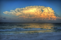 Off Shore Morning Storm. (GMills31) Tags: storm beach gulfofmexico sunrise sand waves florida thunderstorm hdr anvilcloud duneallenbeach sonya7ii