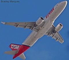 Airbus A320-214SL TAM Linhas Aéreas (PR-TYA). (Bradley Marques) Tags: brazil airplane airbus recife tam a320 planespotting sharklets