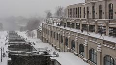Snowy Morning Downtown : December 5, 2016 (jpeltzer) Tags: ottawa downtown ottawariver ottawalocks rideaucanal snow