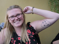 Met Shannon from UK, she loved Australia so much that she put it on her arm!