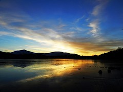 Afterglow, Loch Morlich, Nov 2016 (allanmaciver) Tags: sunset afterglow colours calm loch morlich speyside badenoch cairngorm national park low view silhouettes sky weather november allanmaciver