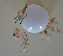 Wind Chimes White Globe (Rain Love AMR) Tags: dreamcatcher feathers chimes windchimes white globe light brown spirit