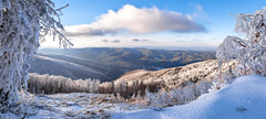 Mt. Semenic - Romania, Banat Region (cristiansamoilescu) Tags: banat resita semenic mountain munte culoare culori color forest padure zapada snow nor cloud clouds cer sky ski white winter iarna alb landscape nikon sigma 1012mm december 2016 simple lightroom wallpaper panorama 3 shots exposure composition