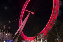 Spinning (Harry Goddard) Tags: london night eye spinning cocacola red thames shutter speed long exposure dark light trails after westminster