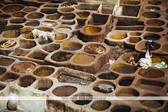 Fez tannery, Morocco (Naomi Rahim (thanks for 5 million visits)) Tags: fes fez morocco fas maroc africa northafrica 2016 travel wanderlust travelphotography nikon nikond7200 medina فاس leather tannery المغرب brown kids people working