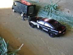 Police Log 12/9/2016 (THE RANGE PRODUCTIONS) Tags: toy model dioramas diecast diecastdioramas 164scale matchbox dodgecharger van hoscalefigures