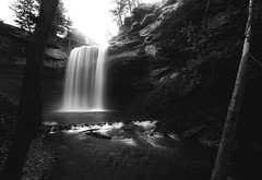 DeCew Falls (Cale Best Photography) Tags: decew falls waterfall morningstar mill stcatharines ontario canada blackandwhite nature landscape longexposure water river stream autumn fall windsor ca