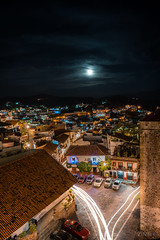Taxco at night (photographyzimbo) Tags: 2017 201701 color mexico taxco when why architecturalphotography blue building car cityscapephotography clouds colorimage colourimage green holidays lamp light lighttrail lighttrails longexposure moon nightphotography purple red seasons streetphotography wall warmcolors weekendtrip white wideangle winter yellow