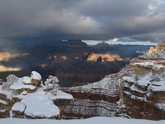 Wintery Canyonscape (zoniedude1) Tags: arizona grandcanyon winter southrim view snowy canyon edge rim winterycanyonscape stormyskies snow light shadow sunbeams rocky precipice vista overlook ontheedge grandcanyonnationalpark gcnp matherpoint thebighole cold afternoon sunset stormclouds winterstorm outdoors exploration adventure discovery southrimwinter2016 outinthewild southwest nature canonpowershotg12 zoniedude1 earthnaturelife explore