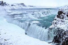 Gullfoss - (explored 3 Jan. 2017) (eirikurtor) Tags: gullfoss waterfall ice snow white snjór ís hvítt iceland ísland janúar january foss