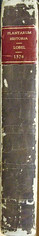L'Obel-Spine of leather binding (melindahayes) Tags: 1576 qk41l7971576 lobelmatthiasde plantarum plantinchristophe folioformat latin