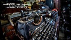 The Gospel Announced (J316) Tags: j316 typewriter olympia remington sony gospel jesus 2017 newyear vintage hdr sonya77