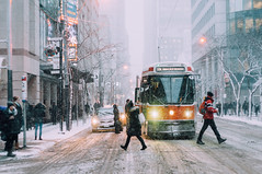 Day 10/365 (Lee Chu) Tags: minoltamdrokkorx50mmf14 sonynex6 toronto ontario canada project365 ttc streetcar kingwest manualfocus snow winter metro