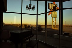 It's just another lonely sunset on Route 66...(Roy's Motel) (Aces & Eights Photography) Tags: abandoned abandonment decay ruraldecay motel oldmotel abandonedmotel roysmotel route66 amboy
