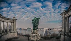 Budapest (Vagelis Pikoulas) Tags: budapest statue gellert children elizabeth bridge sky travel panorama panoramic pano photography clouds cloud cloudy view city capital hungary europe 2016 november autumn canon 6d tokina 1628mm