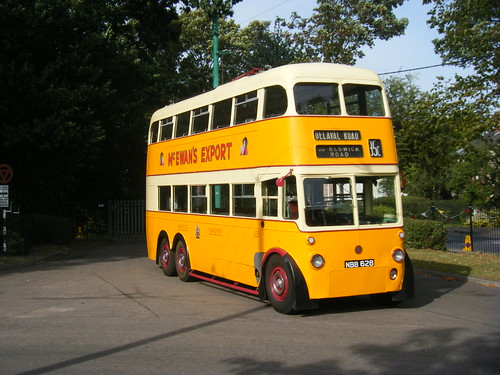 Newcastle trolleybus No. 628 at EATM