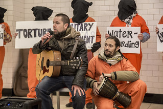 Luke Nephew and Abe Velazquez Lead a Song Protesting Torture and Indefinite Detention