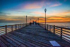 The Pier Near Sunset (Martin Smith - Having the Time of my Life) Tags: oceansidepier oceanside california california2016 martinsmith ©martinsmith sunset vanishingpoint unitedstates us