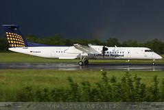 D-ADHA (Joel@BSL) Tags: dadha lufthansa regional lufthansaregional dash8 q400 basel euroairport mulhouse bsl mlh eap rainbow arcenciel