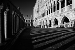 Bianco e Nero (TS446Photo) Tags: venice venezia black white mono monochrome fineart street shadows shadow contrast building architecture italy europe lines noiretblanc neroeblanco blanco nero grain nikon nikkor zeiss lens d810 print blackandwhite travel trip workshop arches piazza sanmarco square bridge dogespalace doges palace