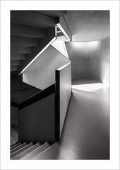 Zona de pas IV / Transit area IV (ximo rosell) Tags: ximorosell bn blackandwhite blancoynegro bw nikon d750 stairs llum luz light arquitectura architecture abstract interiors