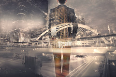 Double exposure of businessman and city (Krunja) Tags: abstract attorney background boss building business businessman career caucasian city cityscape communication concept corporate creative double employment executive exposure finance financial future idea industry invention investment job leader leadership looking male man manager marketing media modern occupation office professional research search side sky success suit think thinking tomorrow urban view work