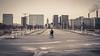Perdu à Paris / Lost in Paris (Gilderic Photography) Tags: paris france street rue bridge station architecture empty surreal pont velo bicycle alone canon 500d gilderic city cinematic