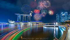 fireworks in the city (jaywu429) Tags: lights architecture urban buildings blue clouds skyline sky singaporeriver sonya7r sony longexposure fireworks inexplore explore landscape cityscape nightscape marinabaysandshotel marinabay marinabaysands singaporecity singapore