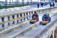 Sledding (foregorp) Tags: sleds snow ice people quebec canada winter carnival