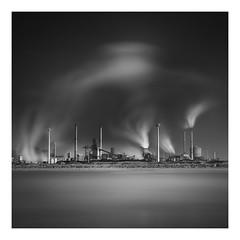 Cloud maker (Marco Maljaars) Tags: tata longexposure le marcomaljaars seascape fineart bw beach pollution factory wijkaanzee