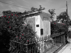 St. Louis Cemetery #1, New Orleans, Louisiana (nadine3112) Tags: louisiana neworleans colorkey colorkeying stlouiscemetery1