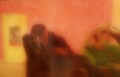 Reminiscence of  the Cellar of Dogs` Tower: 1) As they did not need me for a while they told me to take a break. So I waited at the foyer until they called me back in... / in the mirror im spiegel (hedbavny) Tags: vienna wien door camera pink wallpaper distortion selfportrait black blur reflection green tower art bar work gold austria mirror keller österreich blurry waiting theater break play theatre rehearsal sleep spiegel kunst probe dream rosa kitsch ornament müde tired memory rest buffet grün pause turm tapete arbeit foyer spiegelung cellar impression schwarz kamera aktion handwerk erinnerung spielen selfie schlaf türe warten selbstporträt rosine narrenturm traum handwerker morgenstimmung büffet souffleur souffleuse aktionismus prompter überlegungen hedbavny ingridhedbavny