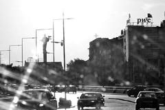 Sofia 3 (anna_kraleva) Tags: city light cars buildings town blackwhite sofia dirtywindow