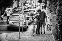 this is passion (o_teuerle) Tags: street bw dresden kiss couple paar passion monochrom küssen leidenschaft