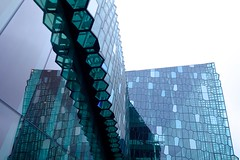 Harpa Conference Center (Ana Lam) Tags: windows inspiration reflection building geometric glass architecture modern iceland mirrors reykjavik hexagon northernlights harpa sonyrx100iii