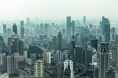 Shanghai (:: edgar 37 :: 1.8 Million + views :: THANKS !!) Tags: china city urban blackandwhite white mist black tower skyline canon blackwhite shanghai 70200 jinmao megapolis eosd 50d ef70200mmf4lisusm eosdeurope