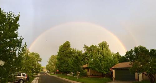 Rainbow before sunset