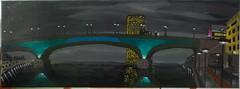 Kenn(s)edy Brcke [ Bonn,germany] (Acryl, canvas, 30x100cm) (dsauer4242) Tags: night dark bonn nacht brcke kennedy dunkel malerei