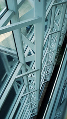 Engineering Building (Jae at Wits End) Tags: white abstract building fall geometric window glass lines metal architecture pattern graphic shapes ground down structure line falling opening portal lookingdown shape downwards