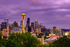 Seattle Sky Line from Kerry Park (nwsticks) Tags: seattle city sunset usa washington nikon pacific northwest outdoor landmark icon pacificnorthwest spaceneedle d40