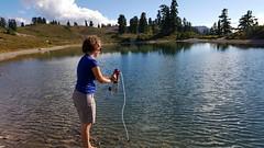 Filtering Water (Canadian Veggie) Tags: camping emily bc hiking backcountry garibaldi elfinlakes garibaldiprovincialpark overnighthike explorebc