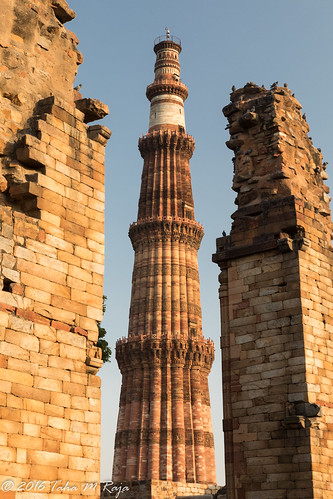 Between Ruins Qutub Minar