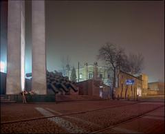 Wujek Coal Mine, Katowice, Poland. (wojszyca) Tags: mamiya rz67 6x7 120 mediumformat 75mm shift kodak portra 160 epson 4990 night longexposure wujek coalmine katowice monument memorial history